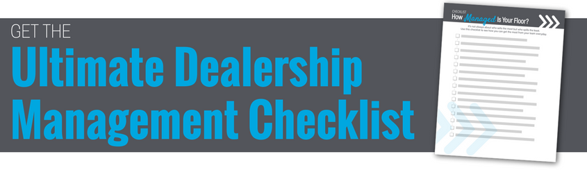 Ultimate Dealership Management Checklist