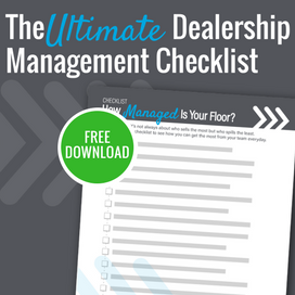 Dealership Management Checklist Sidebar CTA